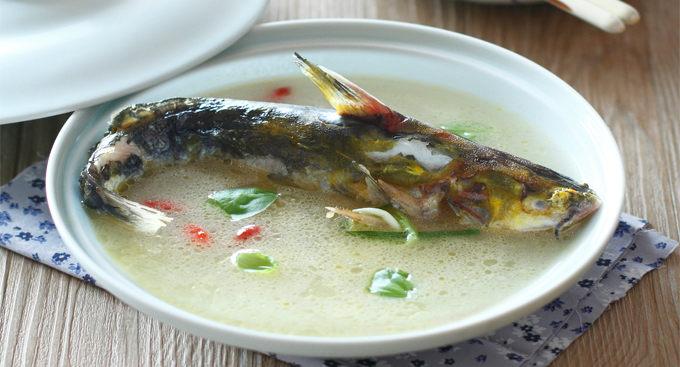 紫苏黄骨鱼汤