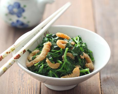 海米拌豌豆苗