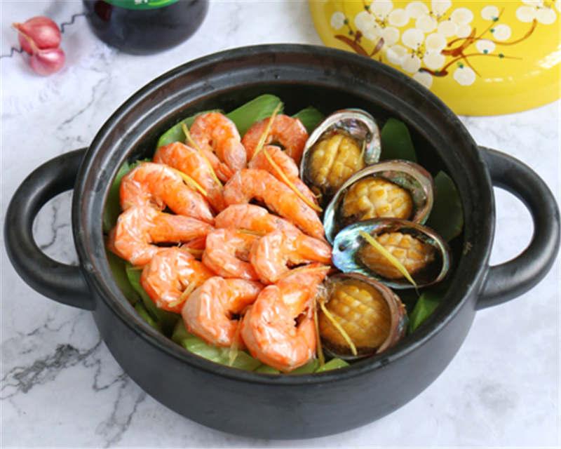莴笋鲜虾鲍鱼煲