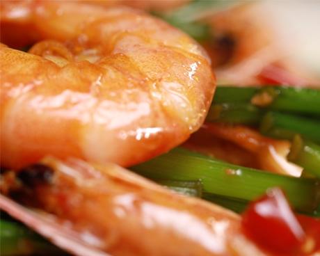 韭苔炒白虾