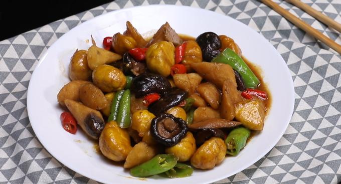 板栗山药烧香菇