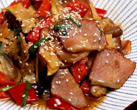 冬笋炒腊肉